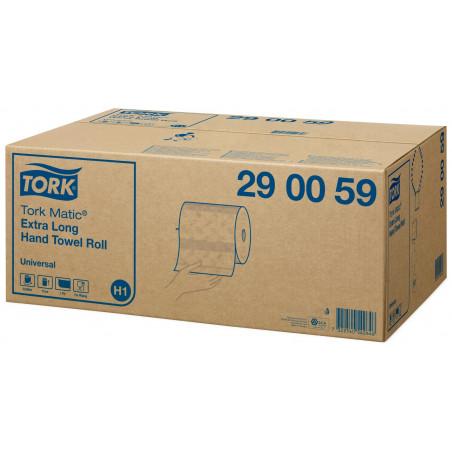 Tork - 8400 feuilles essuie-mains en rouleau extra long Matric - Blanc