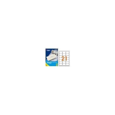 X100 PLANCHES ETIQUETTES AUTOCOLLANTES A4 63.5X38.1MM COINS ARRONDIS